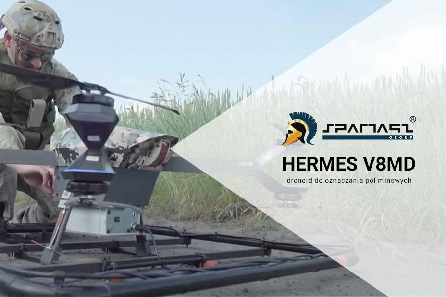 Dronoid Hermes V8MD – Minový detektor – Dronoid pro značení minových polí
