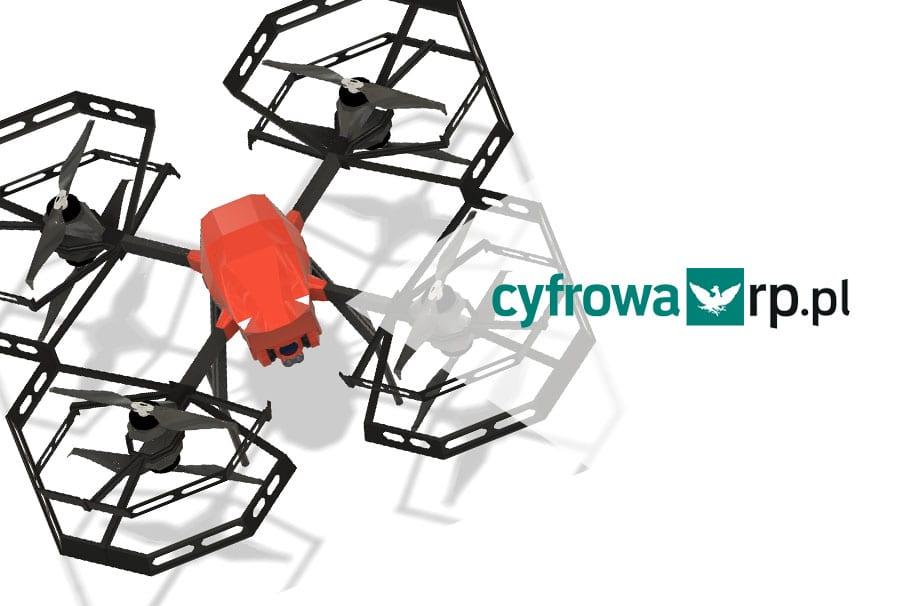 Dronoidy Spartaqs vs COVID-19 na portalu Rzeczpospolita cyfrowa