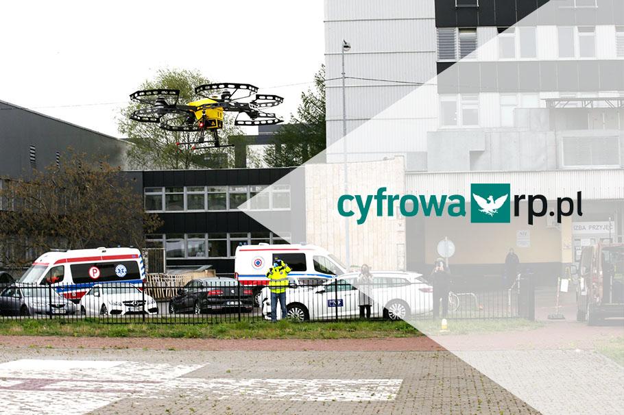Rzeczpospolita o pierwszym udanym transporcie medycznym w Europie za pomocą drona Spartaqs