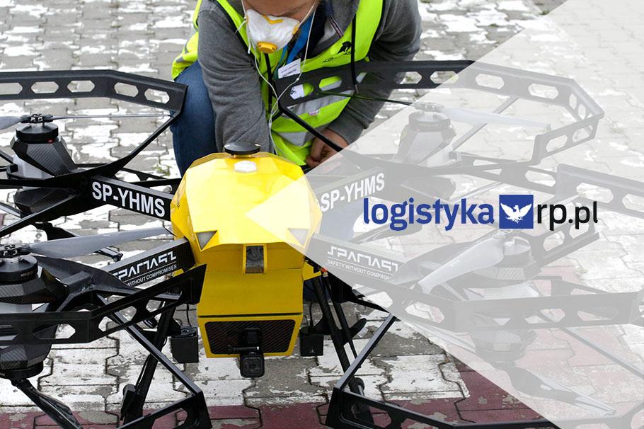 Portál logistyka.rp.pl o letu dronoidu Hermes V8MT a technologické připravenosti Polska na bezpečné lety BSP