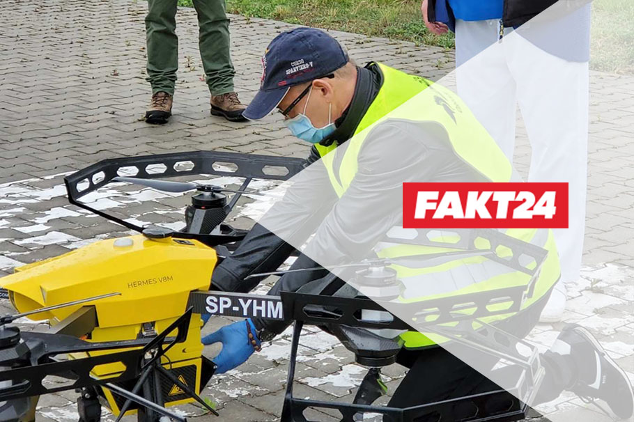 Mluví o nás na portálu Fakt.pl – dronoid Hermes V8MT vs Covid-19