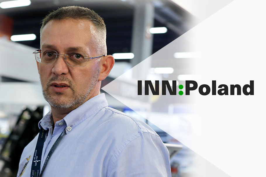 Sławomir Huczała talks in an interview for INN Poland about technological solutions of his own authorship