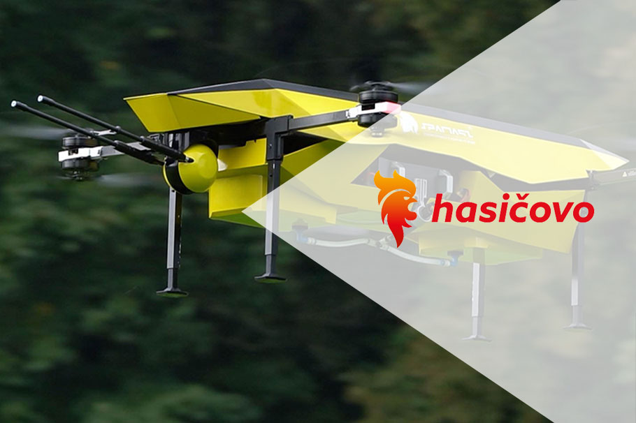 Spartaqs fire dronoids on the pages of the Czech website Hasičovo