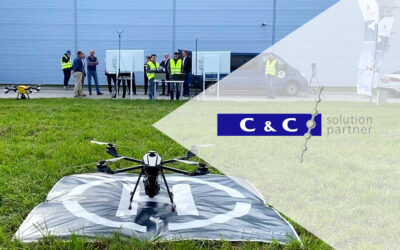 System monitoringu z wykorzystaniem dronoidowej ochrony obwodowej Spartaqs w Centrum Logistycznym C&C Partners