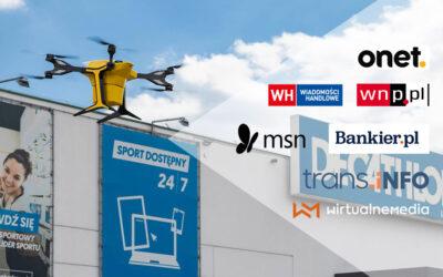 Media o lotach dronoidem dla sieci Decathlon
