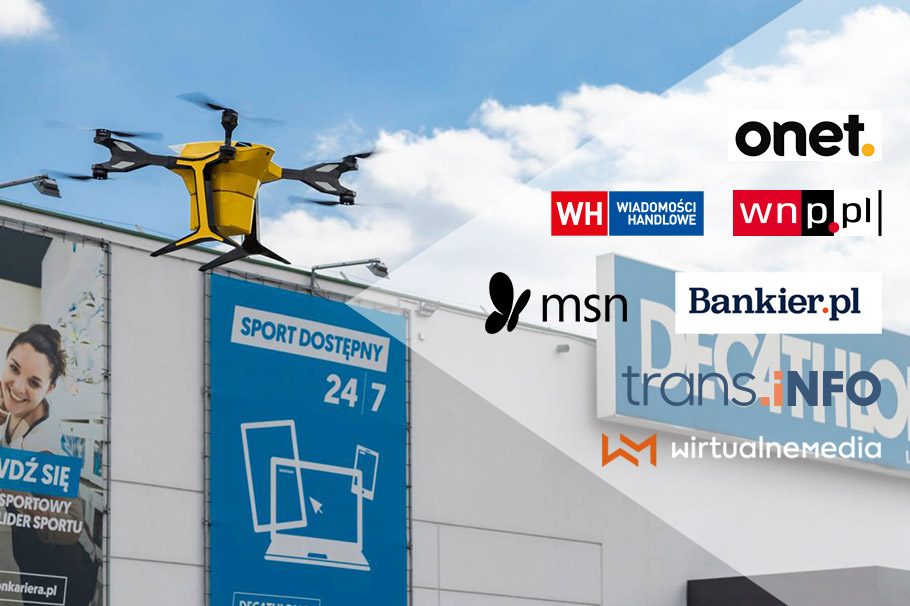Media about dronoid flights for the Decathlon chain of stores.